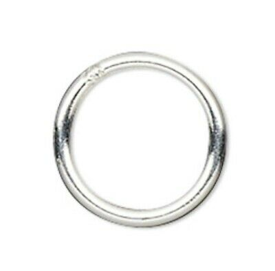 50 Sterling Silver Round Soldered Closed Jump Rings / 6mm / 21 gauge