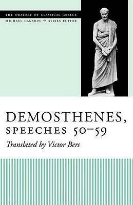 Demosthenes, Speeches 50-59 by Victor Bers (English) Paperback Book Free Shippin