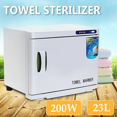 23L UV Towel Sterilizer Warmer Cabinet Disinfection Heater Hot Hotel Salon AU