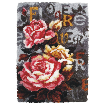 Orchidea Latch Hook Rug Kit - Roses - Needlecraft Kits - FREE UK P&P