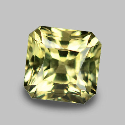 2.31Cts Splendid Radiant Cut Natural Color Shift Diaspore Video In Description