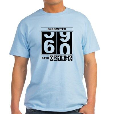 CafePress 60Th Birthday Oldometer Light T Shirt 100 Cotton 265172769