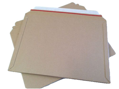 Cardboard Large Letter Book Mailers Board Peel Seal Rigid Strong Envelopes A4