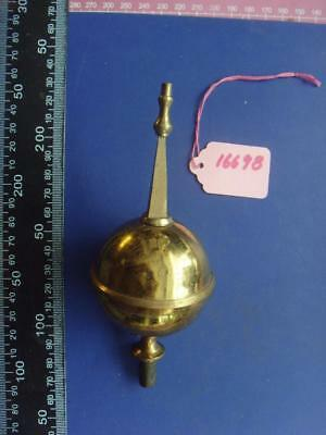 16698 good quality large long case clock centre brass finial 128mm high