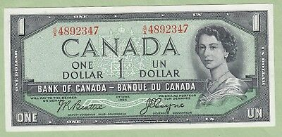1954 Bank of Canada One Dollar Note - Beattie/coyne - S/A4892347 - UNC