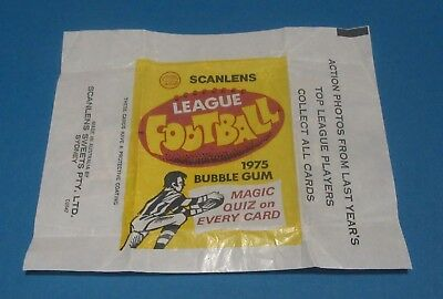 Scanlens 1975 League Football Bubblegum wax Pack Wrapper Australian Rare AFL VFL