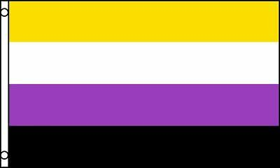 Non-Binary Flag 5 x 3 FT - Non Binary Gender Queer Gay Pride Rainbow Genderqueer