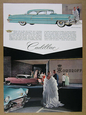1956 Cadillac Coupe DeVille at Romanoff's Restaurant Hollywood vintage print Ad