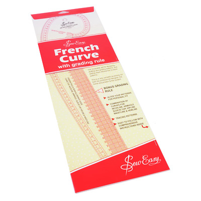 Sew Easy French Curve Metric Ruler - With Grading Rule - FREE UK P&P