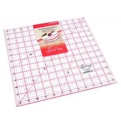 "Sew Easy Quilting Square Ruler - 12.5 x 12.5"" - FREE UK P&P"