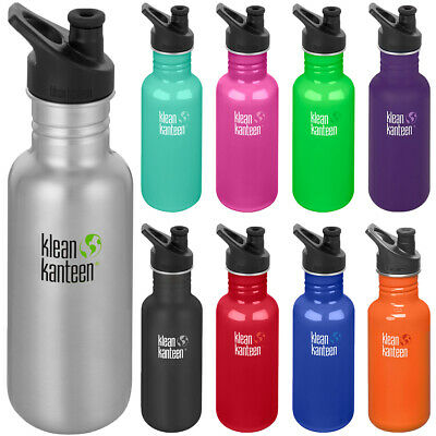 Klean Kanteen Classic 18 oz. Single Wall Bottle with 3.0 Sport Cap