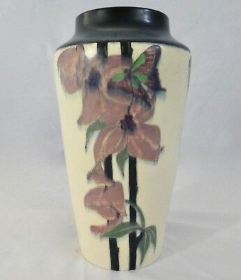 """Antique ROOKWOOD POTTERY VELLUM VASE Signed by Sara Sax.  9.5""""H. 1916"""