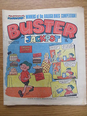 Buster & Jackpot Vintage Old UK Paper COMIC 6 March 1982  Birthday Gift