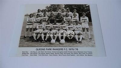Queens Park Rangers Fc Qpr Fc 1975-76 First Division Runners Up Squad Photograph