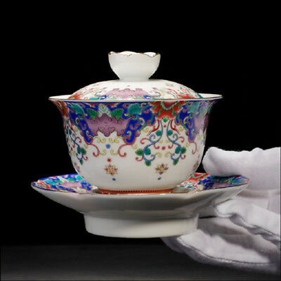 boutique tea bowl Jingdezhen gaiwan porcelain covered bowl cup saucer ceramic