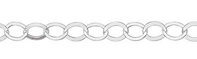 5 Feet Sterling Silver 3.7mm Flat Round Link Cable Chain