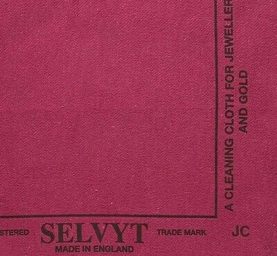 1 Selvyt Red Polishing Cloth Cleans Sterling, Gold & Precious Metal Jewelry