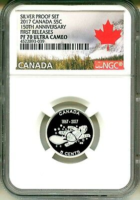 2017 Canada S5c .9999 Silver Proof Set 150th Ann. First Release NGC PF70 UC