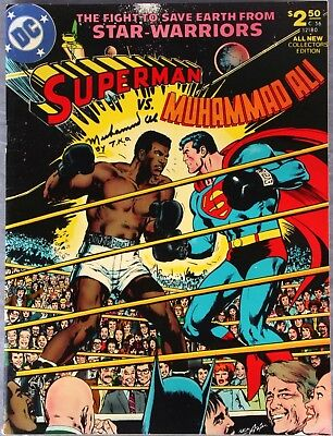 SUPERMAN v MUHAMMAD ALI Iconic 1978 DC Cover With Muhammad Ali by TKO Signature