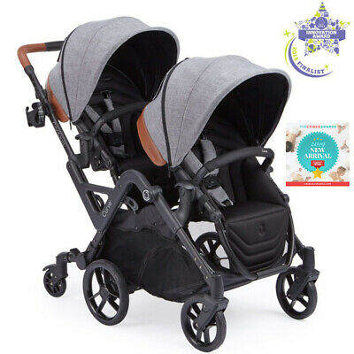 Contours Curve Reversible Seat Twin Double Baby Stroller Graphite Gray NEW 2018