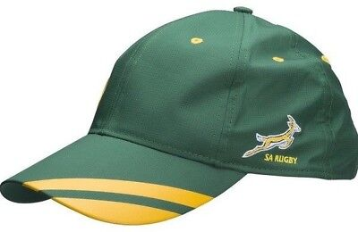 Mens asics SA South Africa RUGBY Baseball Cap Caps Size Adjustable Springboks