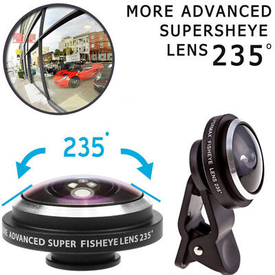 235° Wide Angle Clip-on Fisheye Photo Lens Camera for Smart Mobile Phone iphone