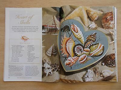 Folk Art & Decorative Painting Vol 5 #3~Shells~Dolphins~Pen & Wash~Mirror~Roses