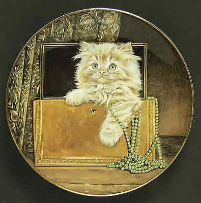 Royal Worcester KITTEN CLASSICS Purrfect Treasure Plate