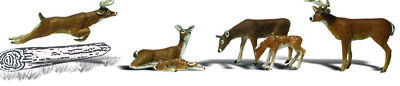 Woodland Scenics N Scale Scenic Accents Figures/Animal Set White-Tail Deer (6)