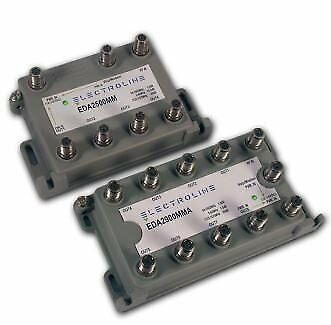 Electroline 8 Port Distribution Amplifier - Fully Supports All Cable TV Signals