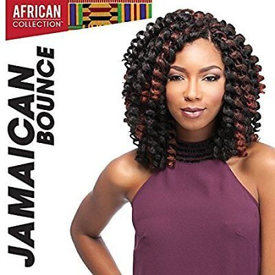 "Jamaican Bounce Crochet Braid Easy Brushing Tangle Free Wigs - 26"" Jet Black 1"