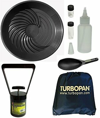 "Black Gold Pan Turbopan Kit w/ Snuffer & Black Sand Magnet & Carry Bag - 16"" Dia"