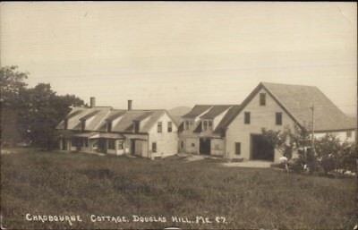 Douglas Hill ME Chadbourne Cottage c1910 Real Photo Postcard