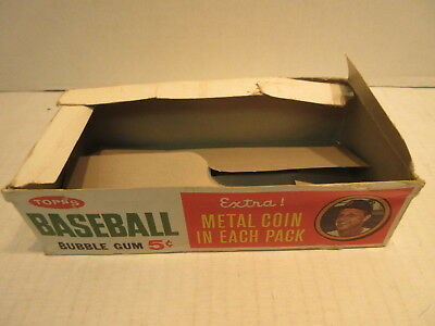 1964 Topps EMPTY Wax Pack Box Stan Musial Coin Ad Baseball Cards