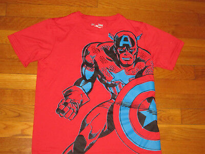 Under Armour Heatgear Captain America Short Sleeve Loose Jersey Boys Large Nice