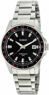 NEW Casio MTP1290D-1A1 Mens Silver Stainless Steel Watch 50M Water Resist Quartz