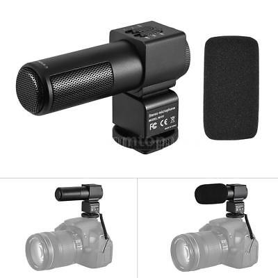 M101 Stereo Microphone Back Electret Condenser Microphone Video Recording DSLR