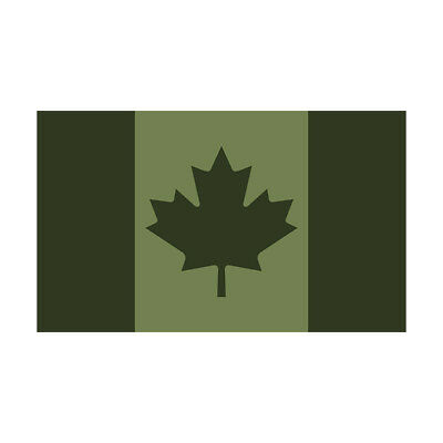Canada Olive Green Subdued Flag Decal OD Canadian Gloss Sticker HGV