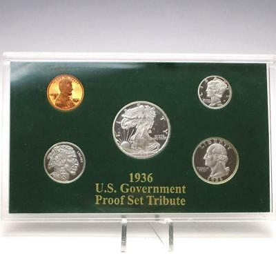 1936 Silver Clad U.S. Government Proof Set Tribute