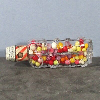 1940's glass container w candy locomotive/train engine T H Stouh Co Jeannette ᵛ