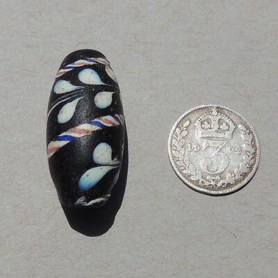 an old antique venetian fancy lewis and clark bead african trade #185