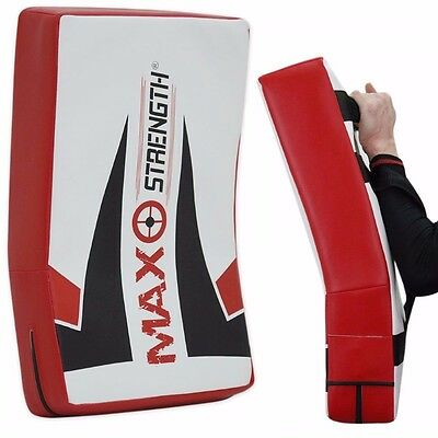 Thai Kick Boxing Strike Shield Curved Pad Arm MMA Focus Muay Punch Mitt Sports