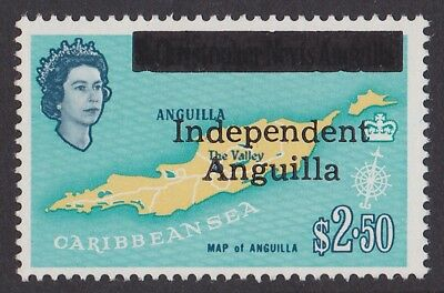 Anguilla : 1967 Independent Anguilla opt $2.50 MNH ** ONLY 225 PRINTED Rare!!!!!