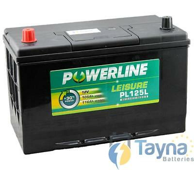 PL125L Powerline Batterie Camping Bateau 12V (POS Left)