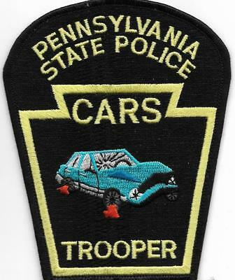 STATE POLICE CARS Crash Unit PENNSYLVANIA Staats-Polizei Abzeichen Patch TROOPER
