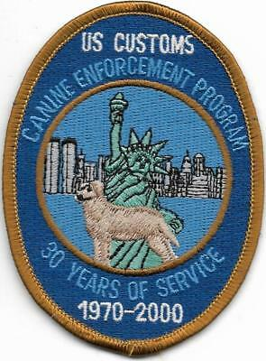 K-9  DHF  New York US CUSTOMS  ZOLL Police Patch Polizei Abzeichen (no NYPD)