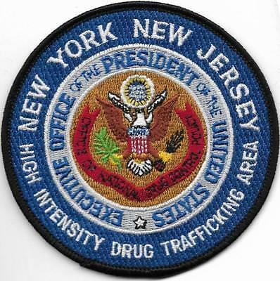 NEW YORK DROGEN DRUG President Executive Off. Polizei Abzeichen Police Patch USA