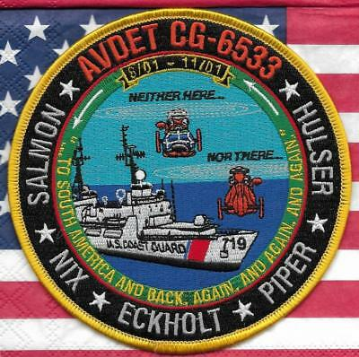 US COAST GUARD 12,7 cm Police Patch Polizei Abzeichen AVDET CG-6533 USA Law Enf.