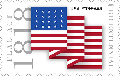 #5284 2018 Flag Act of 1818 Single - MNH