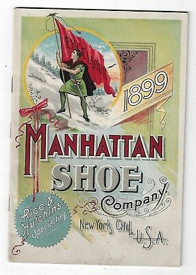 1899 Catalog Manhattan Shoe Company New York City Rice Hutchins Bicycle Shoes